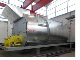 Cuatro quemadores DUOBLOC mixtos de gas o gasóleo de 14800 Kw potencia unitaria