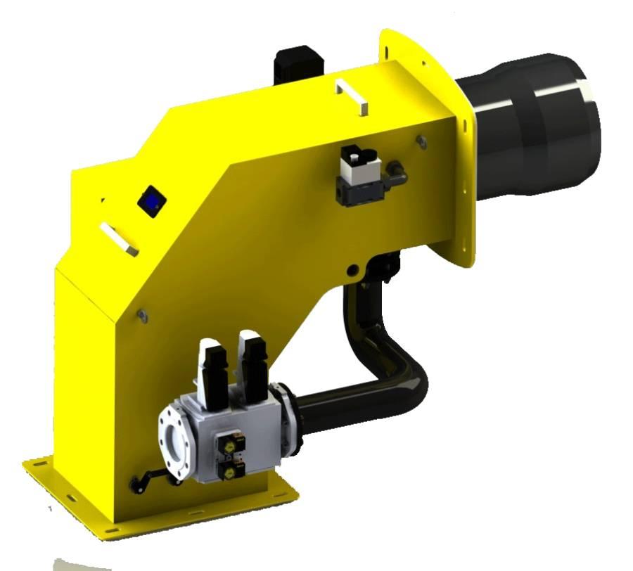Gas /Heavy oil electronic modulation Duobloc Burner
